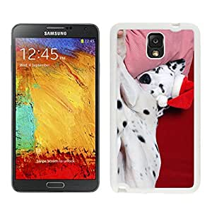 Personalization Christmas Sleeping Spotty Dog White Silicone Case For Samsung Galaxy Note 3,Samsung N9005 Phon