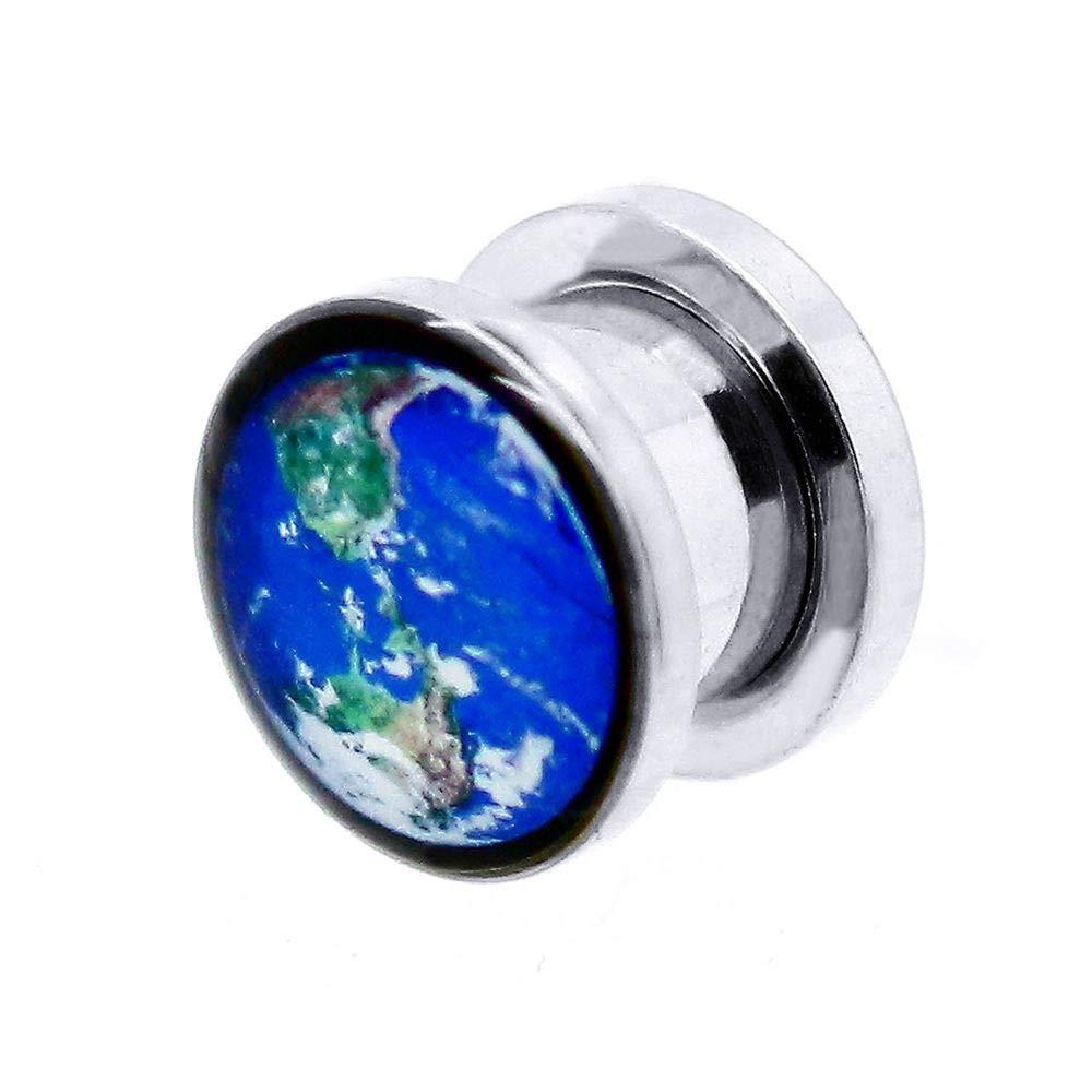tumundo 1 Pieza o Kit Túnel Dilataciones Acero Inox Pendientes Piercing Expansor Stretcher Globo Tierra Planeta 3-10mm, modelo:10 mm Tunnel: Amazon.es: ...