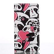 Nancen Coque pour Sony Xperia Z3 / L55u (5.2 pouces), Série Mignon Étui Housse en Cuir PU Bookstyle Flip Cover Wallet Portefeuille Coque de protection Intérieure Souple TPU Silicone Case [Panda mignon]