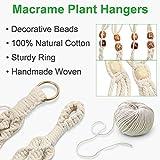 GROWNEER 5 Packs Macrame Plant Hangers with 5