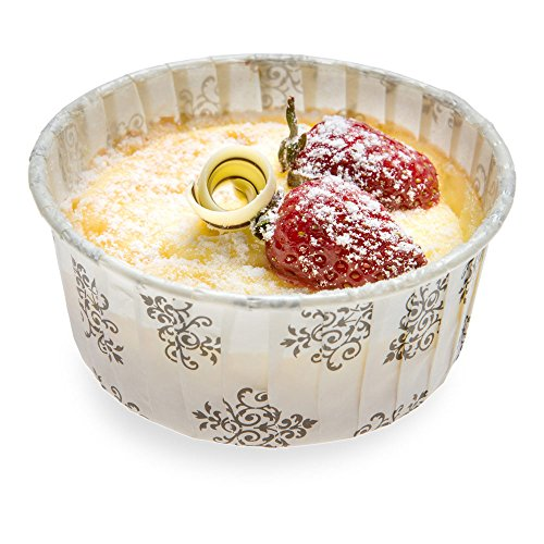 - Panificio Premium 5-oz Baking Cups: Large-Pleated Ridge Cups Perfect for Muffins, Cupcakes or Mini Snacks - Vintage Floral Design - Disposable and Recyclable - 200-CT - Restaurantware