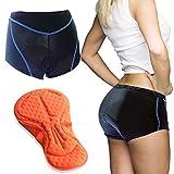 #9: Twotwowin Cycling Underwear Shorts Women - Bike Underwear 3D Padded - Breathable Riding Underwear For Biking Bicycle Motorcycle