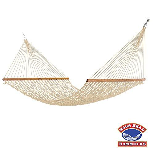 H14OT Extra Wide Duracord Rope Hammock, Oatmeal ()