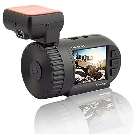 Amacam - Cámara con GPS y Google Maps, Full HD, 1080P Perfecta para montarla en el parabrisas o el salpicadero.: Amazon.es: Electrónica