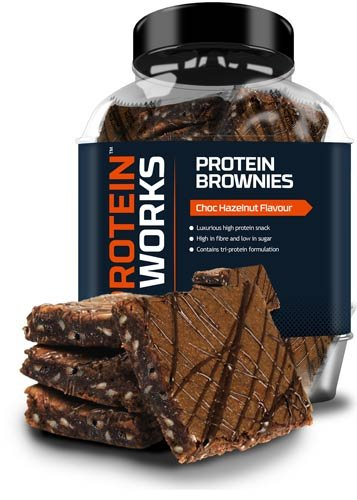 Protein Brownies von The Protein Works - proteinreiche Brownies, Protein Snack - Haselnuss, 22 Stück