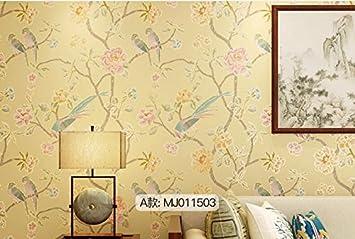 Loaest Moderne Chinesische Tapete Blumen Und Vögel Retro Non-Woven ...