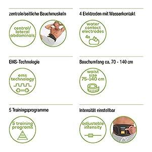 Besten Beurer EM 37 Bauchmuskel-Gürtel, EMS Bauch-Training, Stärkung der  zentralen und seitlichen Bauchmuskulatur Einkaufsführer 0cec53832c3