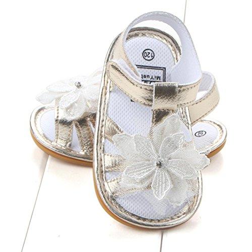 Culater® I pattini dei capretti delle ragazze dei primi camminatori del bambino dei sandali del fiore del bambino