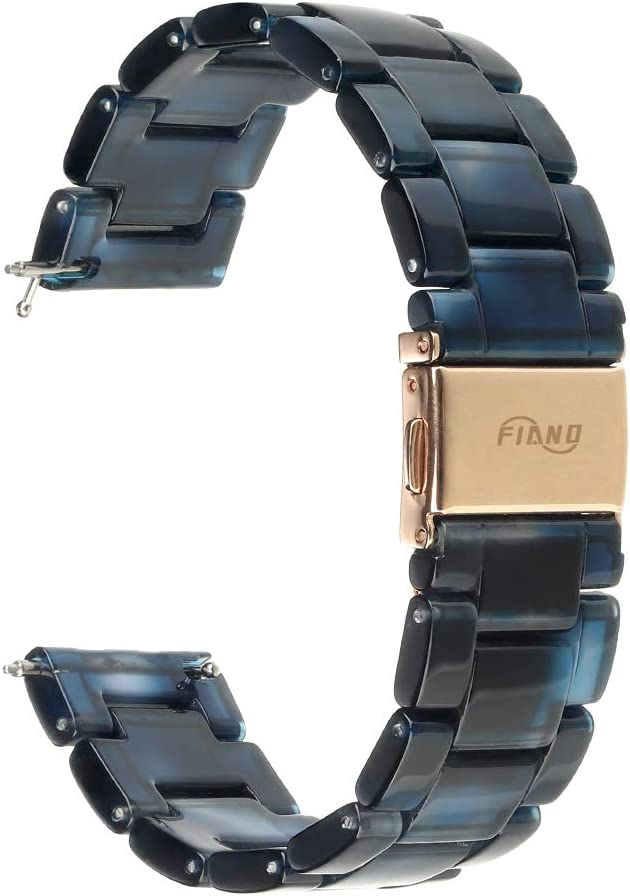 FIANO Compatible with Fitbit Versa/Versa 2/Versa Lite Bands Resin Fashion Smartwatch Replacement Wristband Strap for Women Men (Fruit Green)