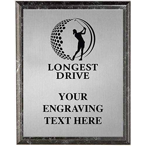 Longest Drive Golf Plaques, Personalized Golf Longest Drive Trophy Plaque Award, Great Custom Engraved Golf Awards Prime
