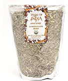 Pride Of India - Organic Dry Indian Lemongrass Herb, 3.53oz (100gm) Full Leaf - Certified and Authentic Indian Herb - Perfect for Cooking, Soups, Salads, Marinades 50+ Servings