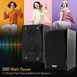 HiFi Desktop Bookshelf Speakers Pair - 300 Watt