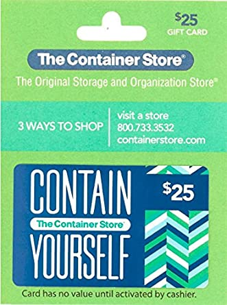 the container store gift card 25 gift cards. Black Bedroom Furniture Sets. Home Design Ideas