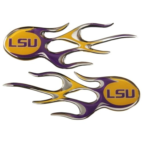 LSU Tigers WORDMARK LSU Micro Flames Decal Emblem Louisiana State University Football Flame - Lsu Helmet Decal