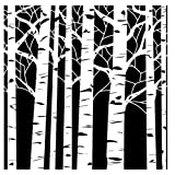 Crafters Workshop Template, 12 by 12-Inch, Aspen Trees