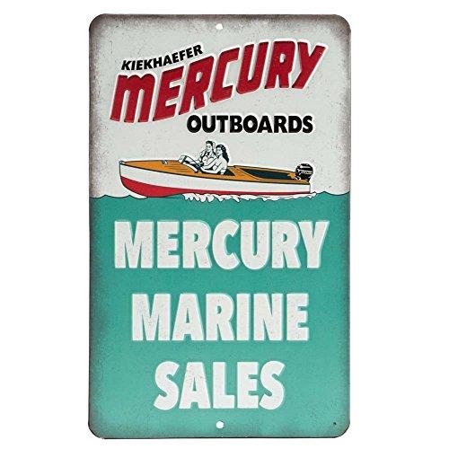Open Road Brands Mercury Marine Embossed Metal Sign