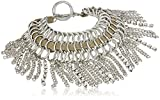 GUESS Nude Metals Women's Fringe Toggle Bracelet, Silver, One Size