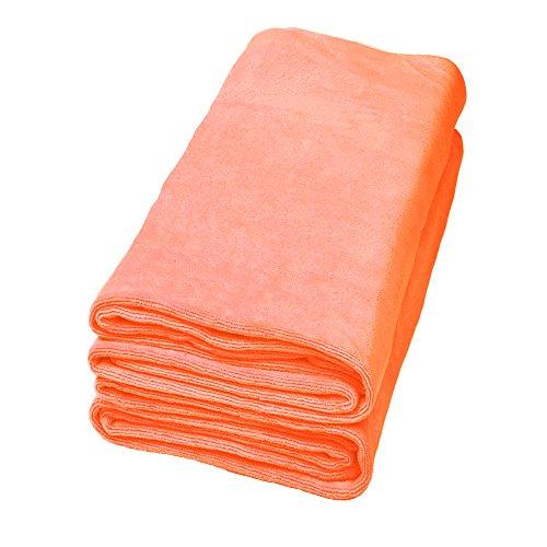 Life Fitness Towel: JML 2PCs Solid Color Microfiber Bath Towels, Oversized