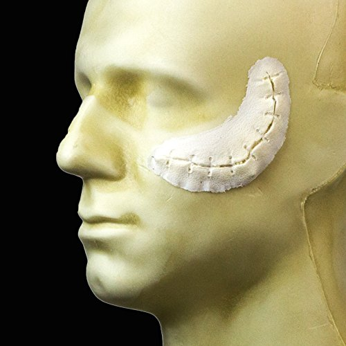 - Rubber Wear Foam Latex Prosthetic - Small Suture Cut FRW-059 - Makeup and Theater FX