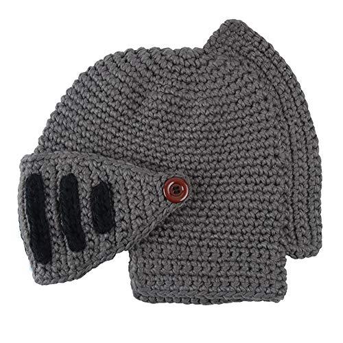 Warm Skull Mujeres Lana y Knitting Winter Hats IRONLAND para gris Beanie Cap oscuro Hombres q1w56I