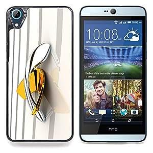 """For HTC Desire 826 Case , Boomerang Amarillo Oro Platino Bling"""" - Diseño Patrón Teléfono Caso Cubierta Case Bumper Duro Protección Case Cover Funda"""