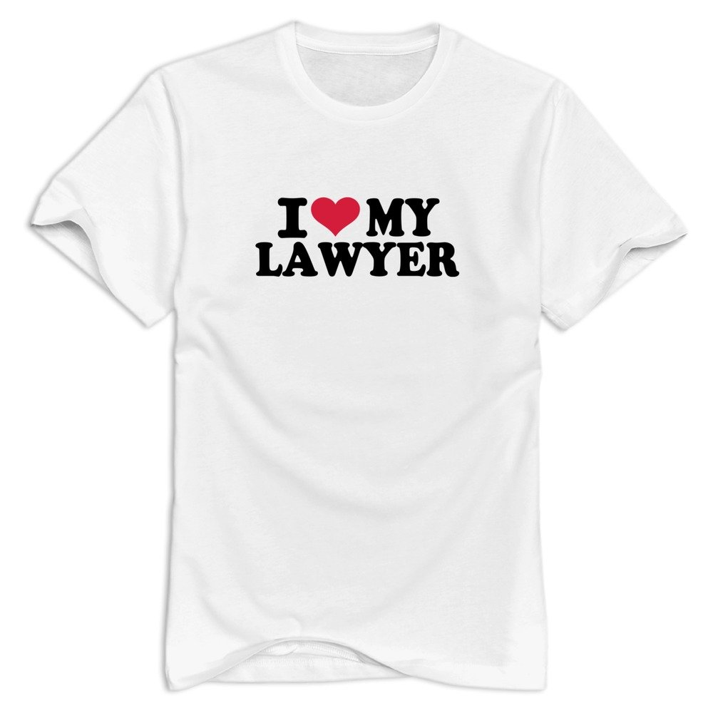 Cuauned I Love My Lawyer Tshirt For Nerd Short Sleeve T Shirts For Adult