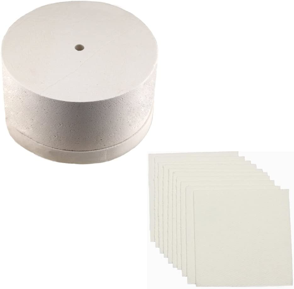 10hojas papel de horno y horno de microondas para cristal de fusión Extra grandes