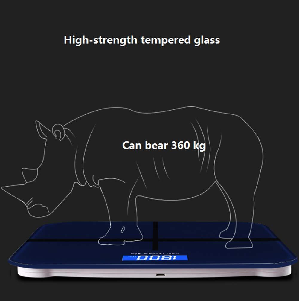 AA-SS Báscula de baño Digital/báscula electrónica - Grueso Ultra Delgado DE 1.8 CM - Plataforma de Cristal de Color {Charge}: Amazon.es: Hogar