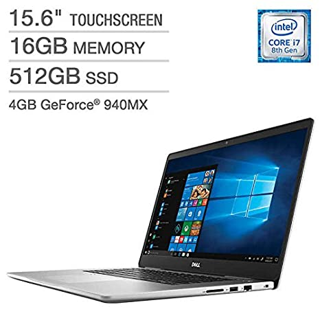 Amazon.com: Dell Inspiron 15 7000 Laptop: Core i7-8550U, 512GB SSD, 16GB RAM, 15.6-inch 4K UHD Touch Display, 940MX 4GB Graphics: Computers & Accessories