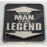 THE MAN THE LEGEND RECTANGULAR FUNNY Belt Buckle. This item ships from Cornwall, Ontario, Canada.