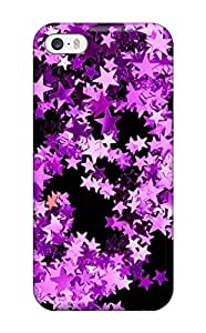 Iphone Case - Tpu Case Protective For Iphone 5/5s- Glittery Pink Stars In Black