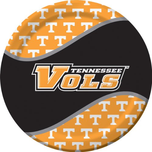 8-Count Round Dinner Paper Plates, Tennessee Volunteers