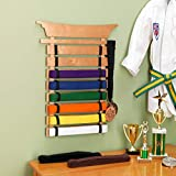 KidKraft Martial Arts Wooden Belt Holder Hanging