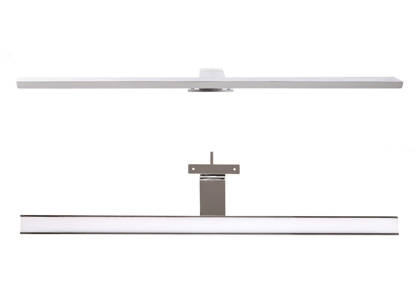 Komerci LED Spiegelleuchte Spiegellampe Aufbauleuchte verchromt 400mm tageslichtweiß 230V 6W, neutralweiß [Energieklasse A+] neutralweiß ML002-400A-NW