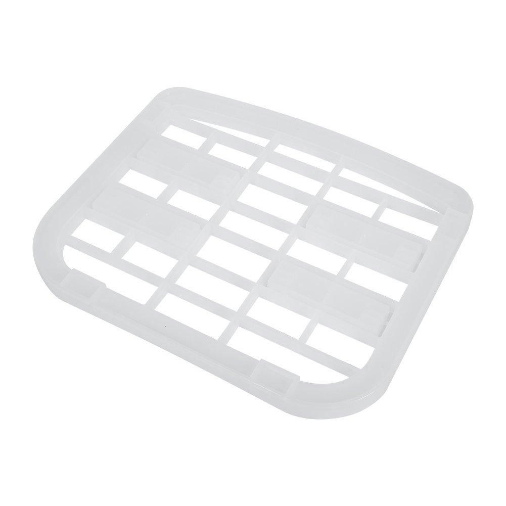 Dish Rack, Semi Transparent Plastic Under Sink Shelf Plate Dish Rack Organizer Holder Shelf Kitchen Bathroom Storage