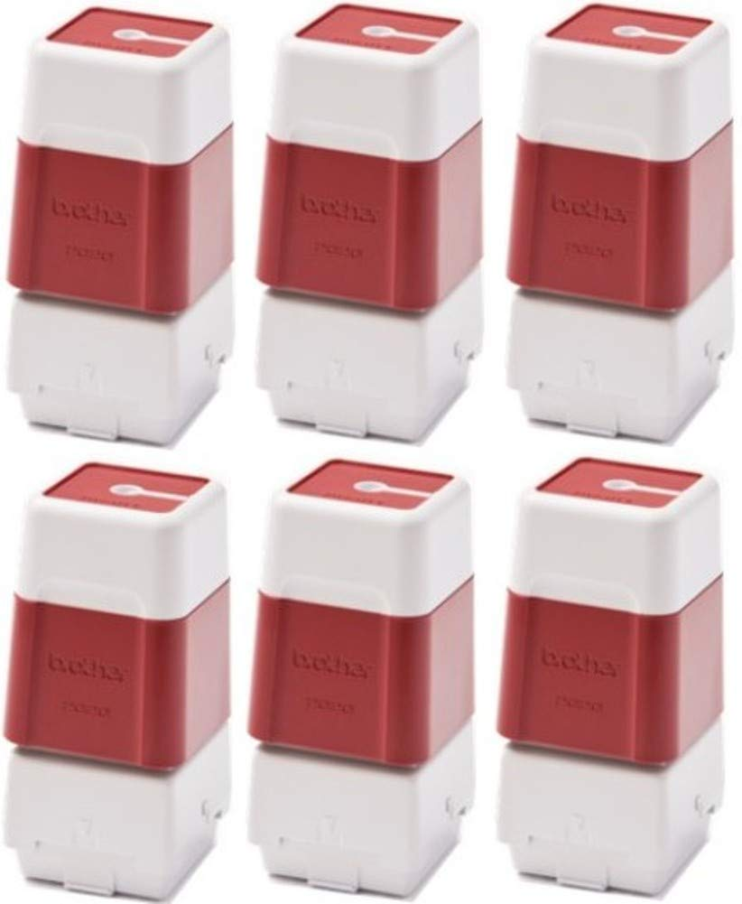Brother PR2020R6P Self-Inking Stamps (6 Pack), Red For use with SC-2000 and SC-2000USB StampCreator Pro Stamp Systems, Each Stamp Will Produce Up to 50000 Impressions; Size 20mm x 20mm by Brother