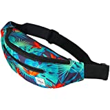 Vibe Fanny Pack for Men Women - Many Prints - Black Holographic Silver Gold Cute Waist Bag for Festival Rave