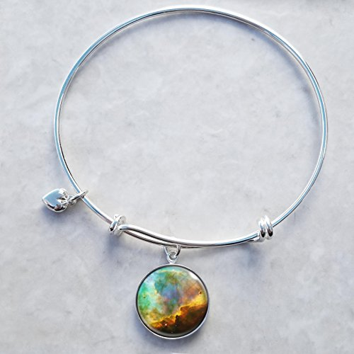 Omega Nebula Sterling Silver Expandable Wire Bangle Charm (Omega Bangle)