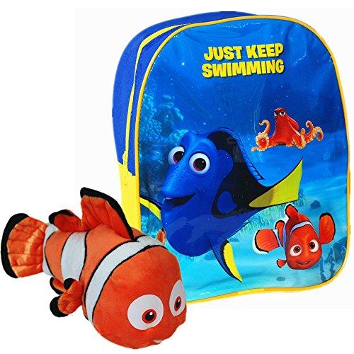 70e620e5dd3c02 Disney® PIXAR Finding Dory ufficiale bambini scuola zaino da viaggio con  morbido peluche di Nemo