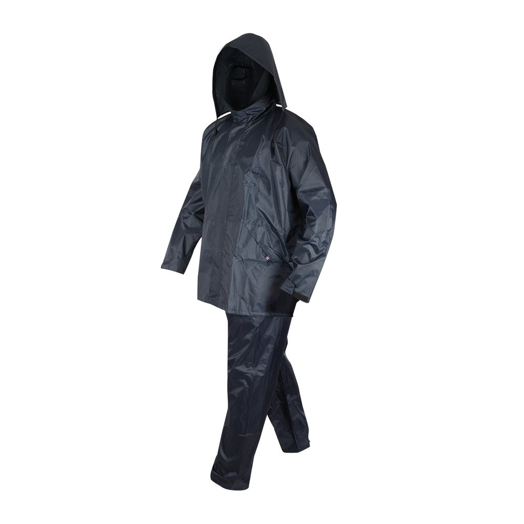 Waterproof Jacket in Navy Blue  Polyester  X//Large