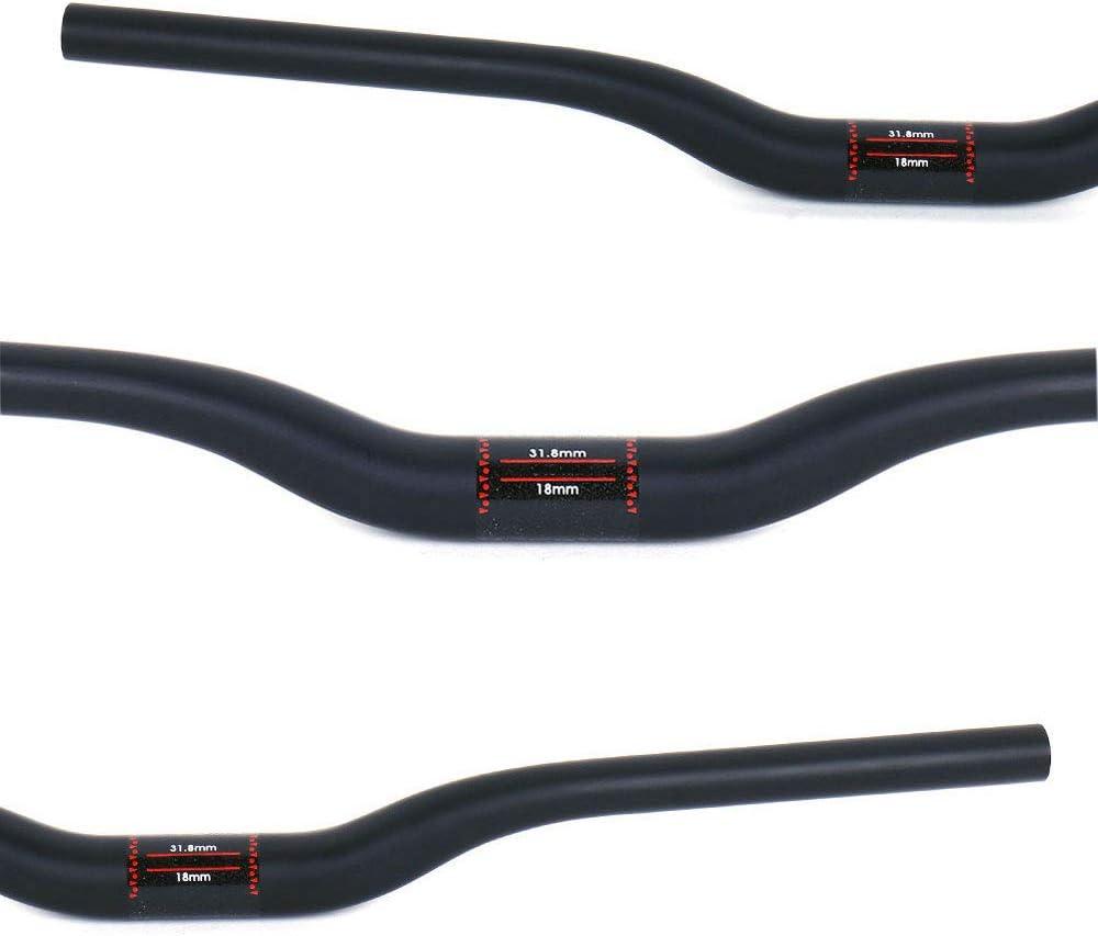 ESEN SP 31.8mm Fibra de Carbono MTB Mountain Bike Plano//Elevador Manillar Extra Long 680//720//760mm para Descenso Fuera de Carretera