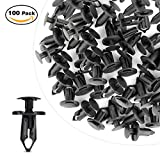 #8: GOOACC Nylon Bumper Fastener Rivet Clips GM 21030249 Ford N807389S Automotive Furniture Assembly Expansion Screws Kit Auto Body Clips 8mm - 100PCS