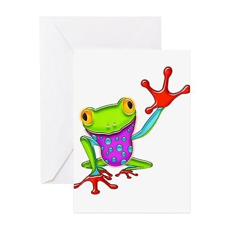 Amazon cafepress waving poison dart frog greeting cards cafepress waving poison dart frog greeting cards greeting card 10 pack m4hsunfo