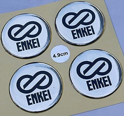 ENKEI 49 MM STICKER DECALS CENTER HUB CAPS COVER WHEEL RIM LOGO Emblem