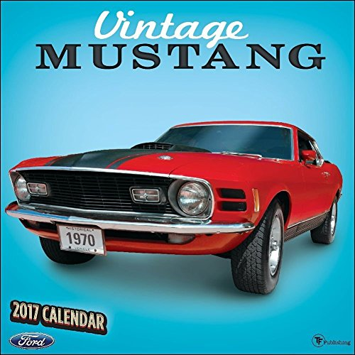TF Publishing 171053 Wall Calendar 2017, Vintage Mustangs