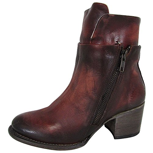 Freebird by Steven Womens FB-Clip Edgy Zip Up Ankle Boot Shoes, Rust, US 6 by Freebird by Steven