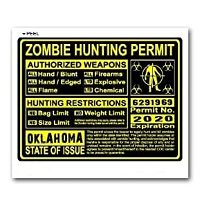 Oklahoma ok zombie hunting license permit for Kansas lifetime fishing license