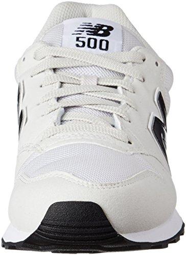 New Balance 500 Bianco Uomo White Sneaker rrgxHFn
