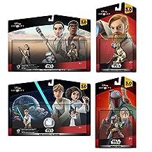 Disney Infinity 3.0 Star Wars: Luke+Leia+Obi-Wan+Rey+Finn+Boba Fett Set NEW