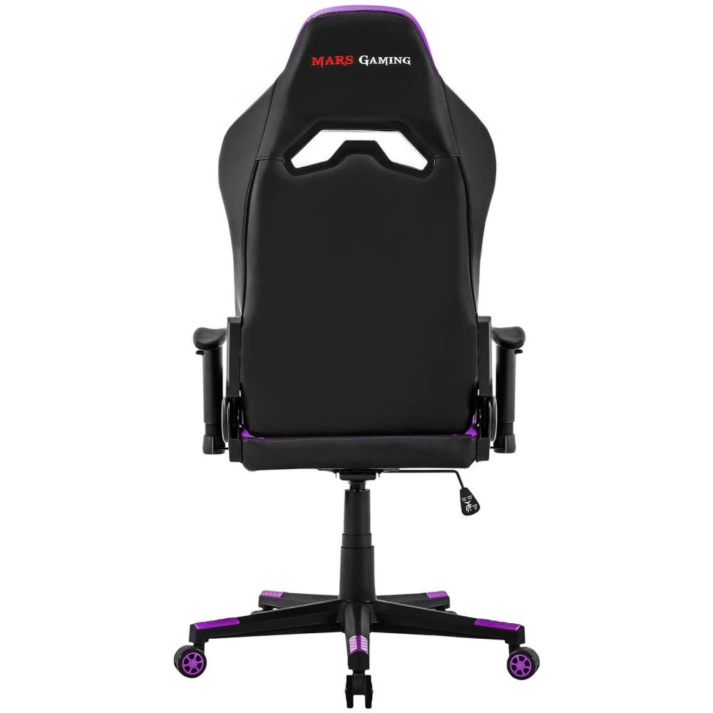 Mars Gaming MGC3 - Silla gaming profesional (inclinación y altura regulables, respaldo inclinable 180°, cojín lumbar y cervical, reposabrazos 2D, ...